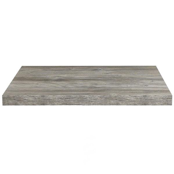 "Grosfillex US48V245 VanGuard 30"" x 48"" Vintage Pine Resin Indoor Table Top"