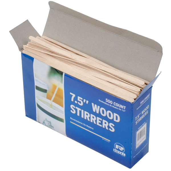 Royal Paper R825 7 12 Eco Friendly Wood Coffee Stirrer 500pack