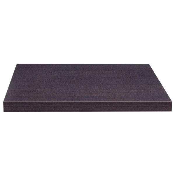 """Grosfillex US30VG91 VanGuard 30"""" Square Wenge Resin Indoor Table Top Main Image 1"""