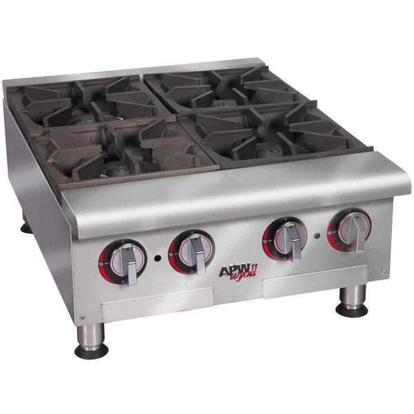 "APW Wyott HHP-636 Natural Gas Heavy Duty 6 Burner Countertop 36"" Range / Hot Plate - 180,000 BTU"