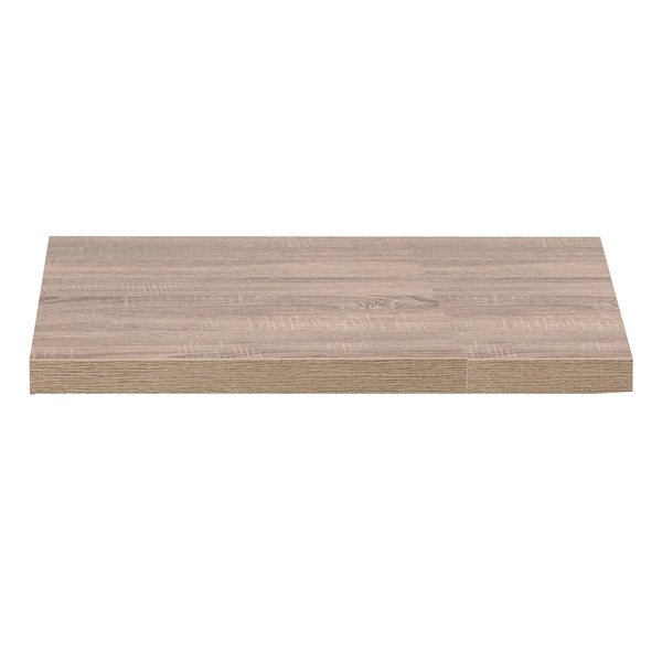 "Grosfillex US36VG59 VanGuard 36"" Square Weathered Oak Resin Indoor Table Top Main Image 1"