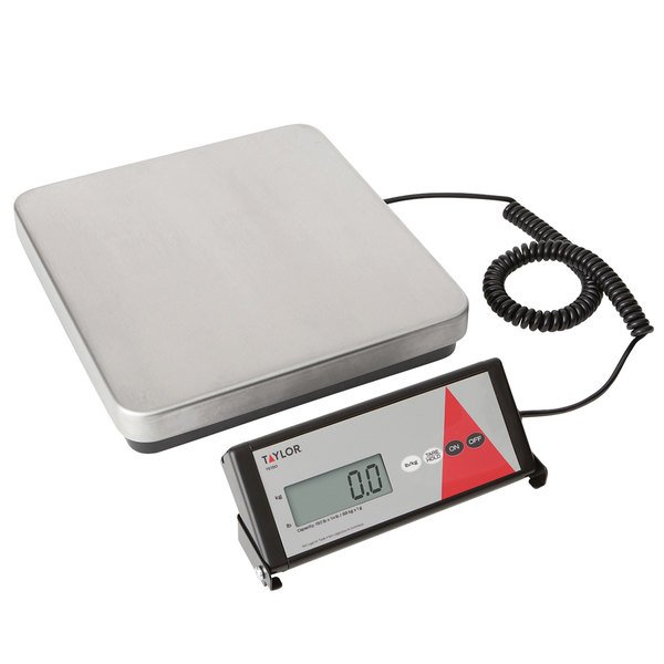 Taylor TE150 150 lb. Digital Receiving Scale with Remote Display Main Image 1
