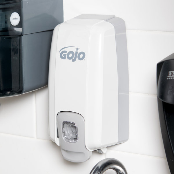 GOJO® 2130-06 NXT 500-1000 mL Dove Gray Space Saver Manual Hand Soap Dispenser