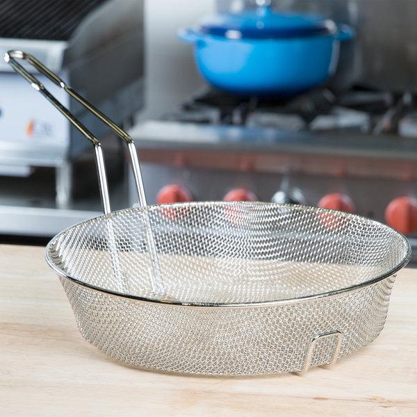 "12"" Round Fine Mesh Culinary Basket"
