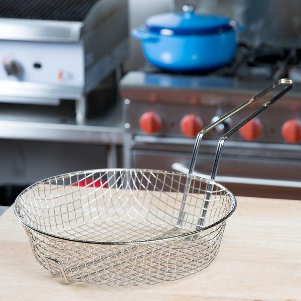 "12"" Round Coarse Mesh Culinary Basket"
