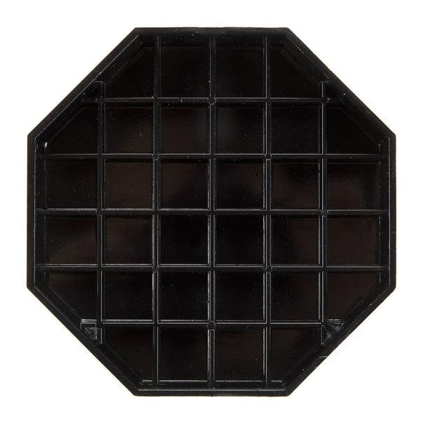 6 inch Black Octagon Pitcher Drip Tray