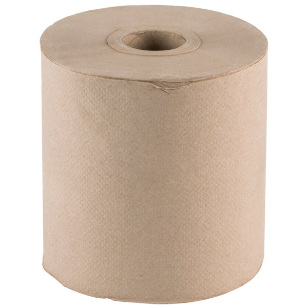 Lavex Janitorial Natural Brown Kraft Roll Towel 600 Feet