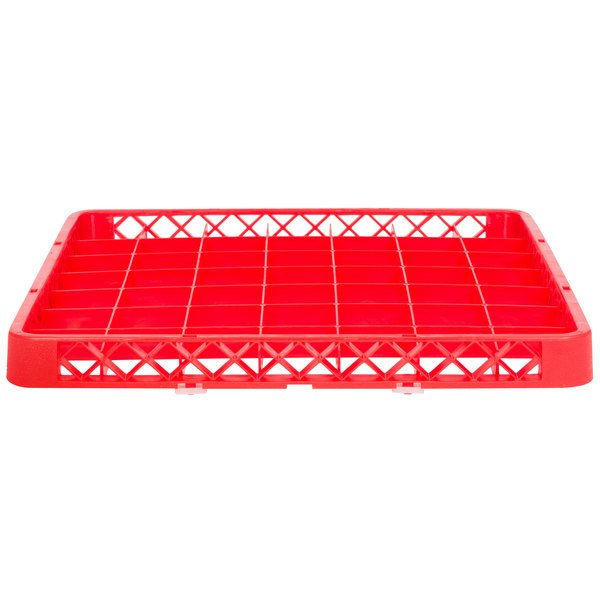 """Noble Products 49-Compartment Red Full-Size Glass Rack Extender - 19 3/8"""" x 19 3/8"""" x 1 3/4"""""""