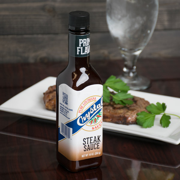 Crystal 10 oz. Original Steak Sauce - 12/Case