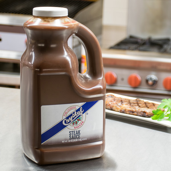 Crystal 1 Gallon Original Steak Sauce - 2/Case Main Image 2