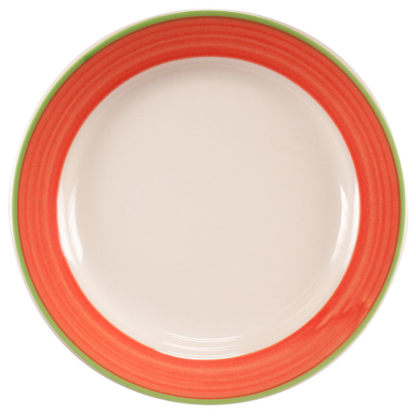 """Homer Laughlin 2038083 Toulon 7 1/8"""" Rolled Edge Plate - 36/Case"""