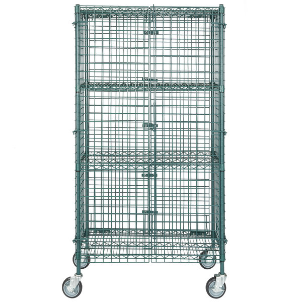 Regency NSF Mobile Green Wire Security Cage Kit - 18\