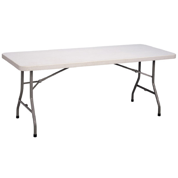 "Correll Economy Folding Table, 30"" x 72"" Blow-Molded Plastic, Granite Gray - CP3072 33 Main Image 1"