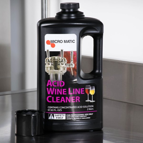 Micro Matic MM-WA68 68 oz. Acid Wine Line Cleaner - 6/Case