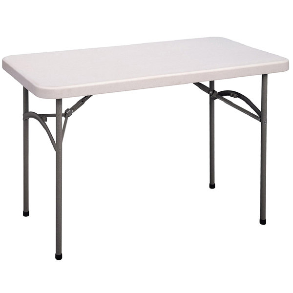 "Correll Economy Folding Table, 24"" x 48"" Blow-Molded Plastic, Granite Gray - CP2448 33 Main Image 1"