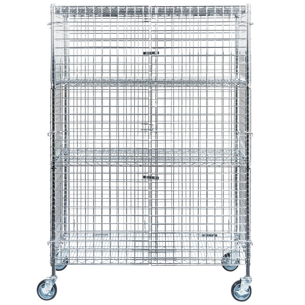 A Mobile Chrome Wire Security Cage Kit From Regency Is An Excellent Storage  And Transportation Option For Expensive Liquors At Your Bar Or Club.