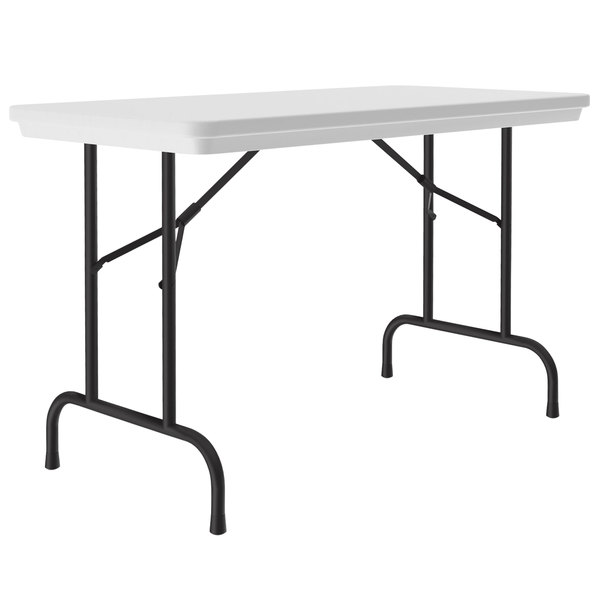 "Correll Heavy-Duty Folding Table, 24"" x 48"" Blow-Molded Plastic, Gray Granite - R2448-23 Main Image 1"