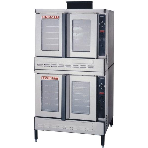 Blodgett DFG-100-ES Premium Series Natural Gas Double Deck Full Size Convection Oven with Draft Diverter- 90,000 BTU