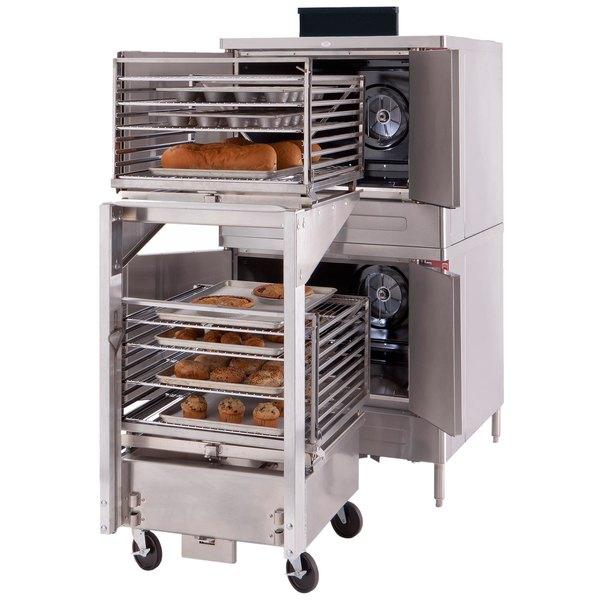 Blodgett DFG-100-ES Premium Series Liquid Propane Single Deck Full Size Roll-In Convection Oven with Draft Diverter - 45,000 BTU