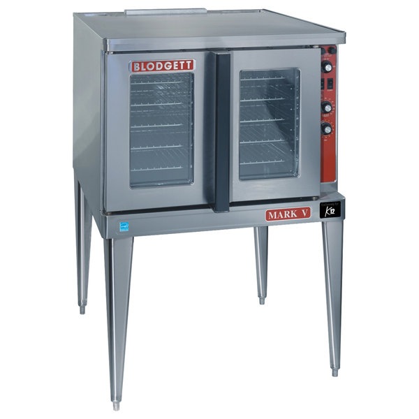 Blodgett Mark V-200 Premium Series Single Deck Bakery Depth Full Size Electric Convection - 220/240V, 3 Phase, 11 kW Main Image 1