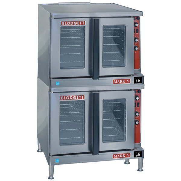 Blodgett Mark V-200 Premium Series Double Deck Bakery Depth Full Size Electric Convection Oven - 208V, 1 Phase, 22 kW Main Image 1