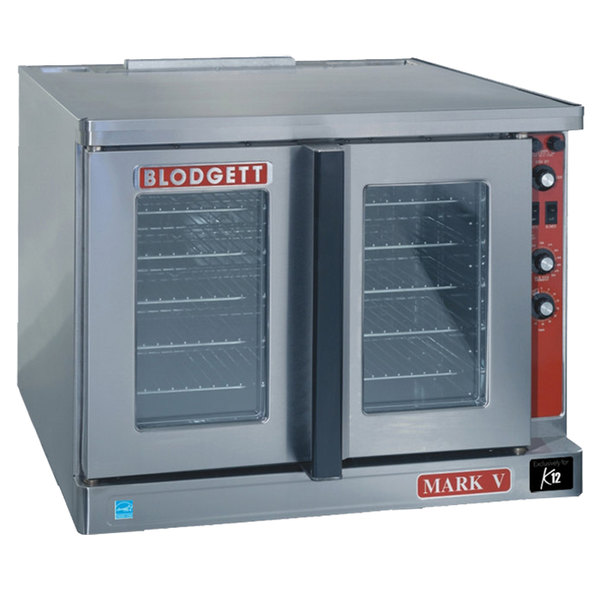 Blodgett Mark V-100 Premium Series Replacement Base Model Full Size Electric Convection Oven - 208V, 1 Phase, 11 kW Main Image 1