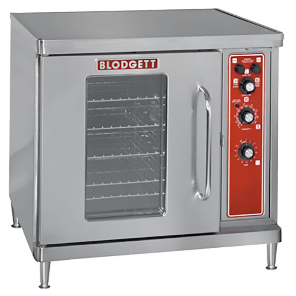 Blodgett CTB Premium Series Single Deck Half Size Electric Convection Oven with Left-Hinged Door - 208V, 3 Phase, 5.6 kW
