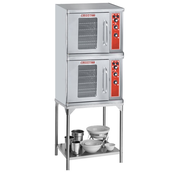 Blodgett CTB Premium Series Double Deck Half Size Electric Convection Oven with Left-Hinged Door - 208V, 1 Phase, 11.2 kW Main Image 1