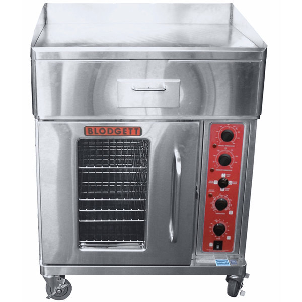 """Blodgett CTB-G Electric Range with 30"""" Griddle Top and Convection Oven Base with Left-Hinged Door - 240V, 3 Phase, 17.6 kW"""