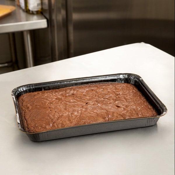 "Solut 42082 9"" x 13"" Bake and Show Quarter Size Paperboard Sheet Pan Black - 200/Case"