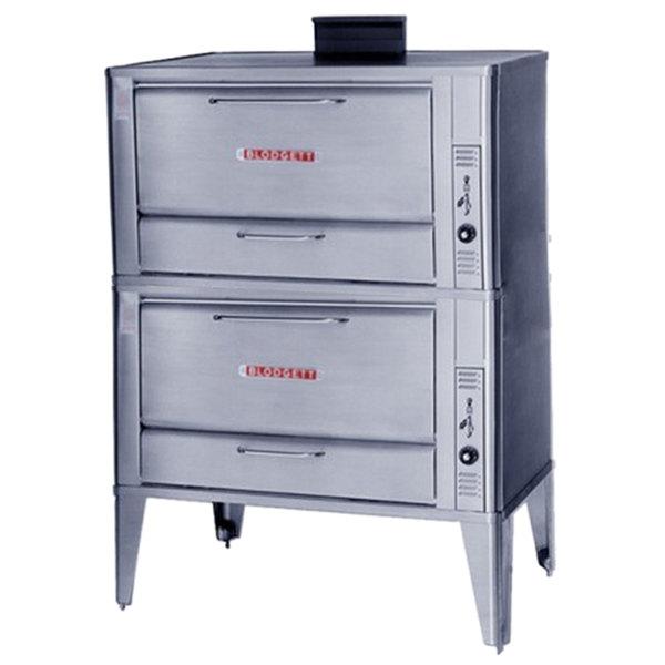 Blodgett 966 Natural Gas Double Deck Oven with Draft Diverter - 100,000 BTU