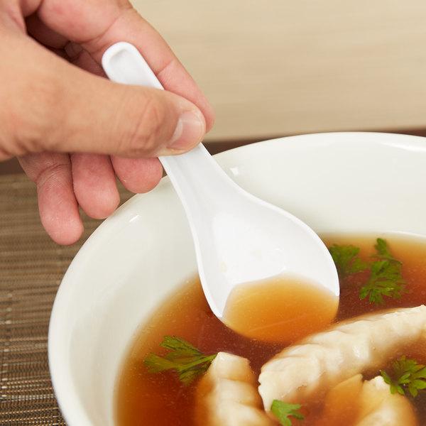 GET M-6030-W 0.65 oz. White Soup Spoon - 12/Pack