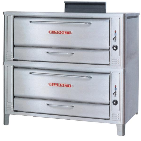 Blodgett 1048 Liquid Propane Double Pizza Deck Oven with Draft Diverter - 170,000 BTU Main Image 1