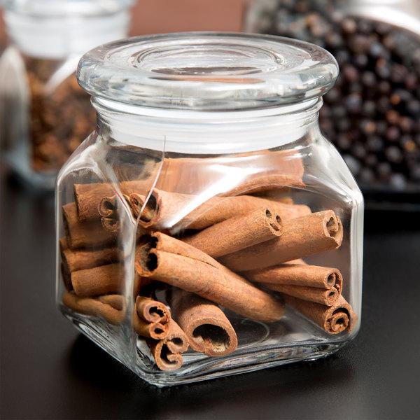 Anchor Hocking 85975 Emma 10 oz. Glass Jar with Lid - 4/Case