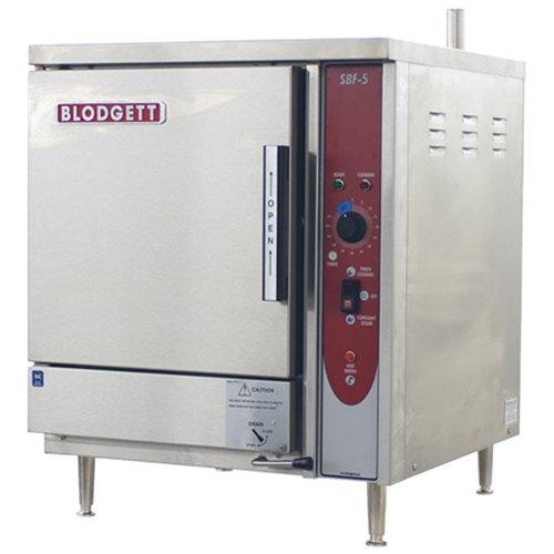 Blodgett SBF-5E 5 Pan Boiler Free Electric Countertop Steamer - 240V, 3 Phase, 15 kW