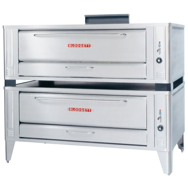 Blodgett 1060 Natural Gas Double Pizza Deck Oven with Draft Diverter - 170,000 BTU Main Image 1