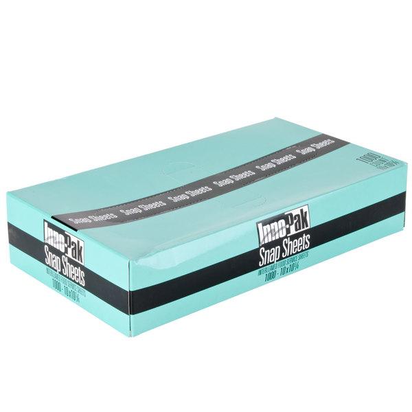 "Box of 1000 10 3/4"" x 10"" Plastic Deli Wrap and Bakery Wrap"