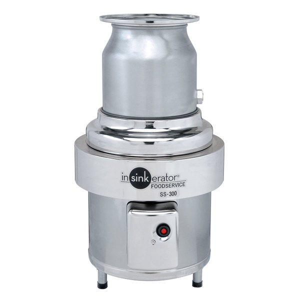 Insinkerator SS-300-27 Short Body Commercial Garbage Disposer - 3 hp, 3 Phase Main Image 1