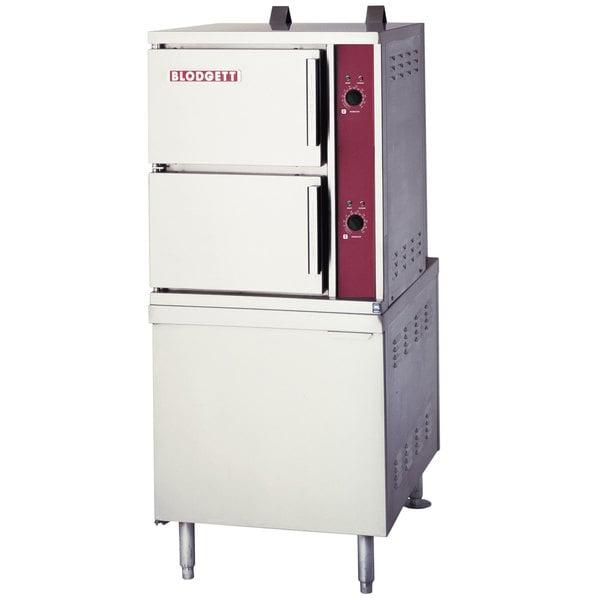 Blodgett SB-6G Liquid Propane 6 Pan Floor Steamer with 110 lb. Boiler Base - 140,000 BTU