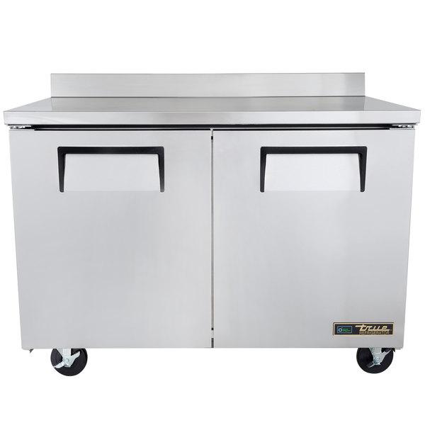 True TWT-48-HC 48 inch Two Door Worktop Refrigerator
