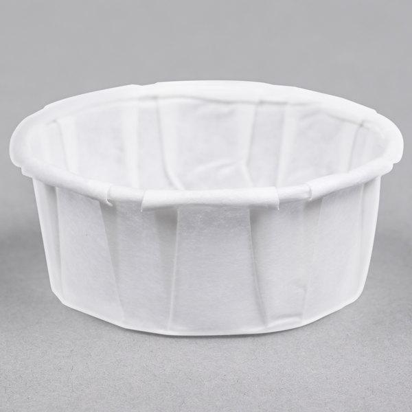 Genpak F050S .5 oz. Squat Harvest Paper Souffle / Portion Cup - 5000/Case
