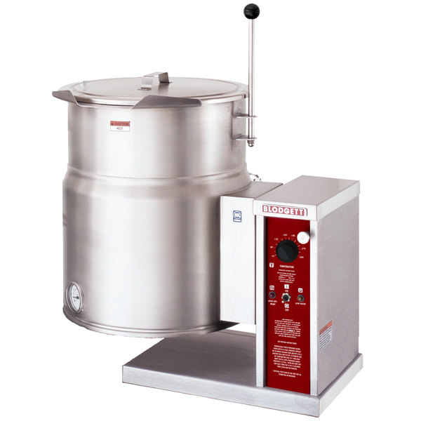 Blodgett KTT-12E 12 Gallon Countertop Tilting Electric Steam Jacketed Kettle - 240V, 3 Phase, 12 kW