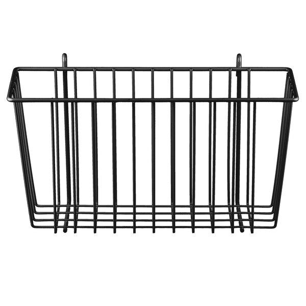 "Metro H209-DSG Smoked Glass Storage Basket for Wire Shelving 13 3/8"" x 5"" x 7"""