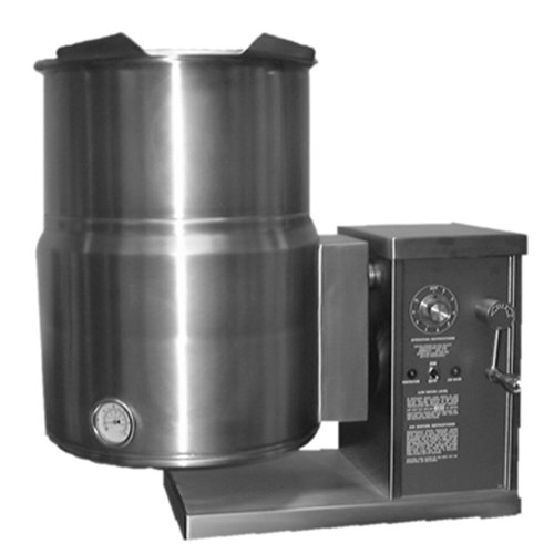 Blodgett KTG-12E 12 Gallon Countertop Electric Steam Jacketed Kettle with Gear Box Tilt Mechanism - 240V, 3 Phase, 12 kW