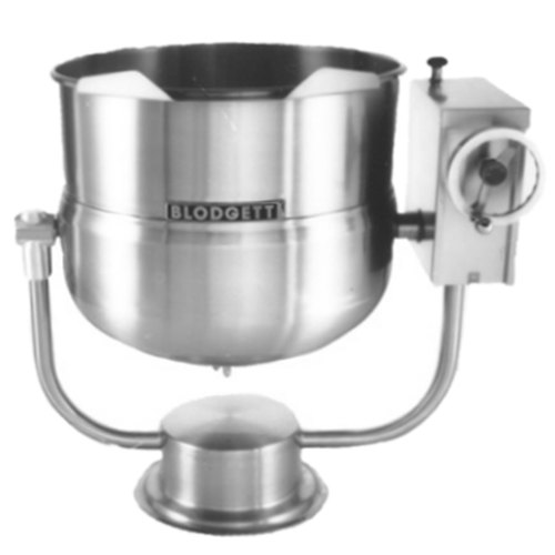 Blodgett KPT-60DS 60 Gallon Direct Steam Tilting Pedestal Base Steam Jacketed Kettle Main Image 1
