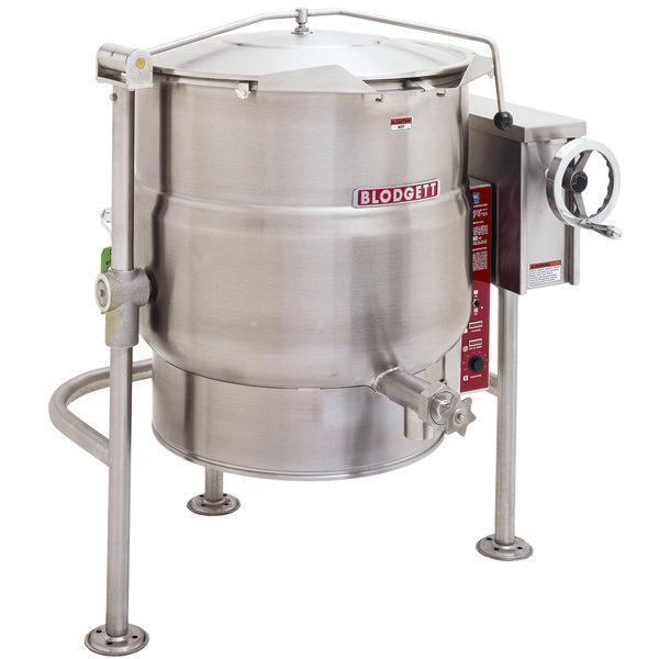 Blodgett KLT-100E 100 Gallon Tilting Quad-Leg Electric Steam Jacketed Kettle - 240V, 3 Phase, 24 kW Main Image 1