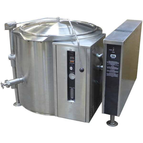 Blodgett KLT-40G Natural Gas 40 Gallon Tilting Quad-Leg Gas Steam Jacketed Kettle - 100,000 BTU Main Image 1