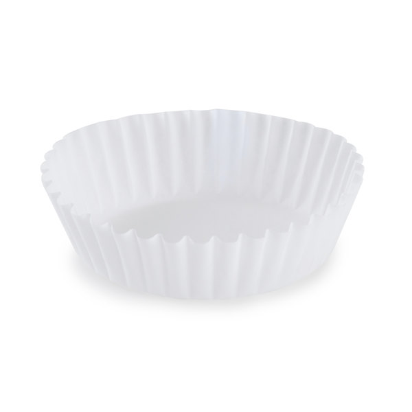 "White Fluted Baking Cup 1 3/4"" x 5/8"" - 1000/Pack"