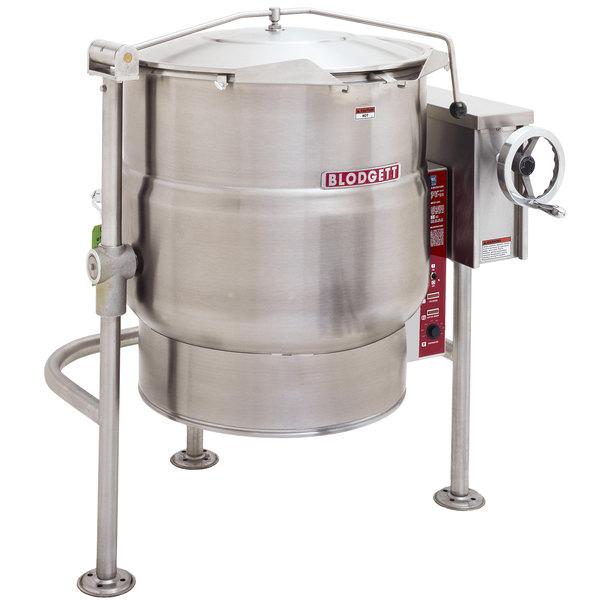 Blodgett KLT-100DS 100 Gallon Direct Steam Tilting Quad-Leg Steam Jacketed Kettle