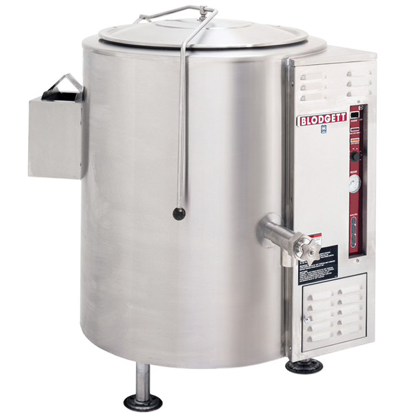 Blodgett KLS-40G Liquid Propane 40 Gallon Stationary Tri-Leg Steam Jacketed Kettle - 100,000 BTU